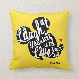 Trendy Mickey | Laugh At Yourself Throw Pillow
