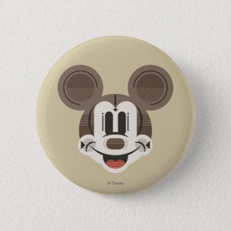 Trendy Mickey   Stylized Stripes Retro Head Button