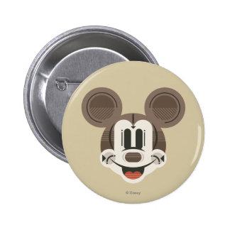 Trendy Mickey | Stylized Stripes Retro Head Button