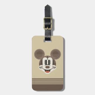Trendy Mickey | Stylized Stripes Retro Head Luggage Tag