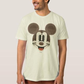 Trendy Mickey | Stylized Stripes Retro Head Shirt