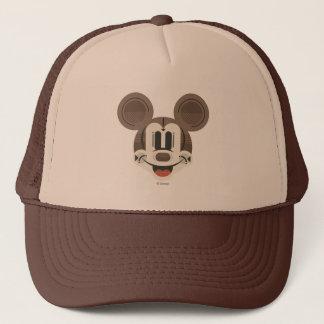 Trendy Mickey   Stylized Stripes Retro Head Trucker Hat