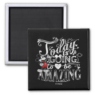 Trendy Mickey | Today Is Going To Be Amazing 2 Inch Square Magnet