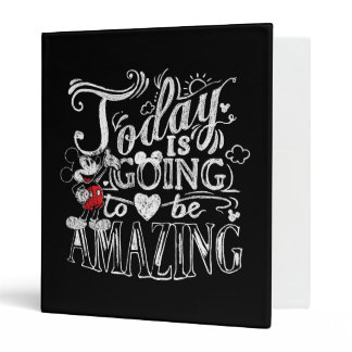 Trendy Mickey | Today Is Going To Be Amazing 3 Ring Binder