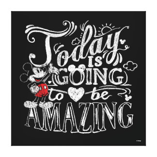 Trendy Mickey | Today Is Going To Be Amazing Canvas Print