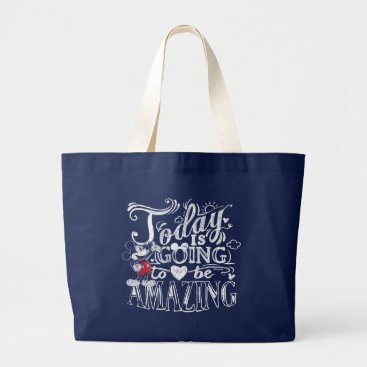 Disney Themed Trendy Mickey | Today Is Going To Be Amazing Large Tote Bag