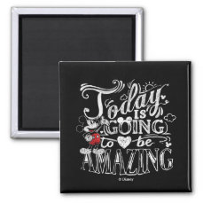 Trendy Mickey   Today Is Going To Be Amazing Magnet