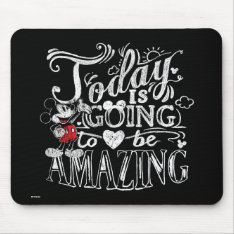 Trendy Mickey | Today Is Going To Be Amazing Mouse Pad at Zazzle