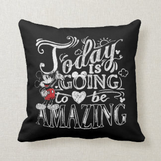 Trendy Mickey | Today Is Going To Be Amazing Throw Pillow