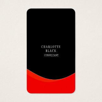 Trendy Minimalist Black Red White Creative Plain Business Card