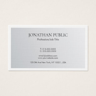 Luxe luxury premium linen hq business cards templates zazzle trendy minimalist elegant silver look luxury linen business card reheart Image collections