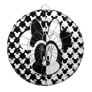 Trendy Minnie | Black & White Modern Dartboard With Darts