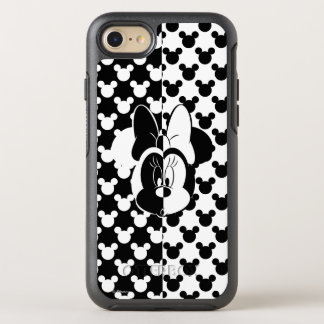 Trendy Minnie | Black & White Modern OtterBox Symmetry iPhone 8/7 Case