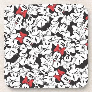 Trendy Minnie | Classic Pattern Drink Coaster