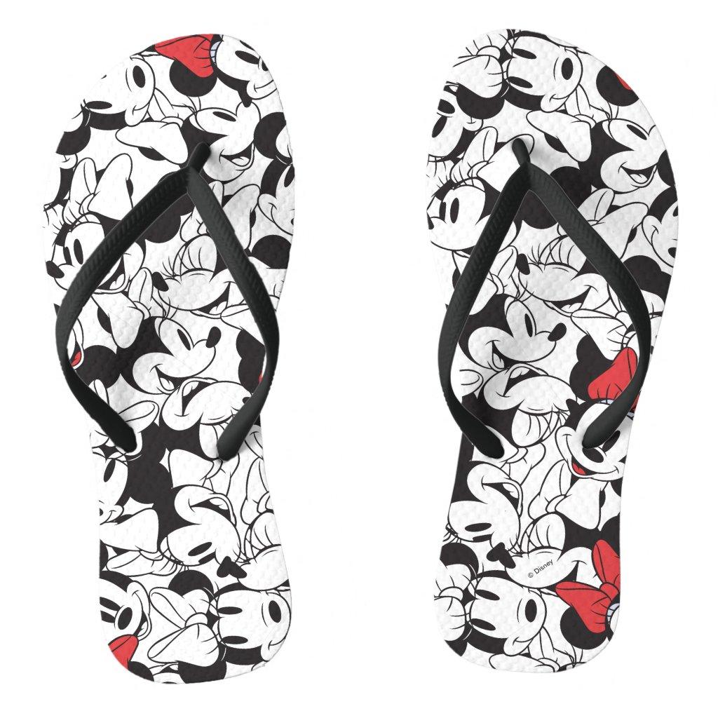 Trendy Minnie | Classic Pattern Flip Flops