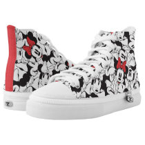 Trendy Minnie | Classic Pattern High-Top Sneakers