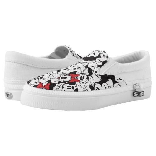 Trendy Minnie | Classic Pattern Slip-On Sneakers