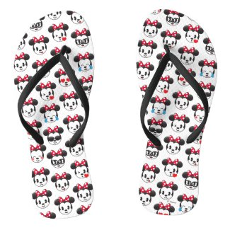 Trendy Minnie | Emoji Pattern Flip Flops
