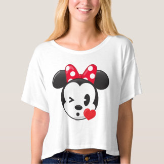 Tee with Cute Emoji - Trendy Minnie | Flirty Emoji T-shirt