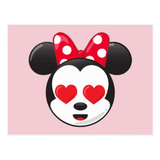 Trendy Minnie | In Love Emoji Postcard