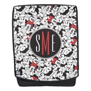 Disney Themed Trendy Minnie | Monogram Classic Pattern Backpack