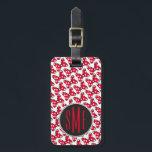 "Trendy Minnie | Polka Dot Bow Monogram Bag Tag<br><div class=""desc"">A pattern featuring Minnie&#39;s famous polka dot bow</div>"