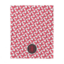 Trendy Minnie | Polka Dot Bow Monogram Fleece Blanket