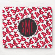 Trendy Minnie | Polka Dot Bow Monogram Mouse Pad