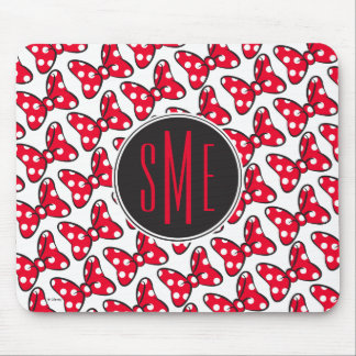 Trendy Minnie | Polka Dot Bow Monogram Mouse Pad