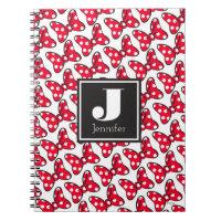 Trendy Minnie | Polka Dot Bow Monogram Notebook