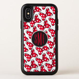 Trendy Minnie   Polka Dot Bow Monogram OtterBox Symmetry iPhone X Case