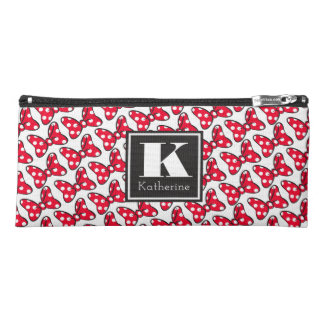 Trendy Minnie | Polka Dot Bow Monogram Pencil Case