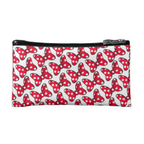 Trendy Minnie | Polka Dot Bow Pattern Cosmetic Bag
