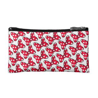 Trendy Minnie   Polka Dot Bow Pattern Cosmetic Bag at Zazzle