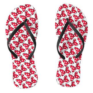 Trendy Minnie | Polka Dot Bow Pattern Flip Flops