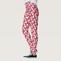 Trendy Minnie | Polka Dot Bow Pattern Leggings