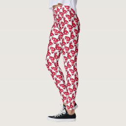 Trendy Minnie   Polka Dot Bow Pattern Leggings