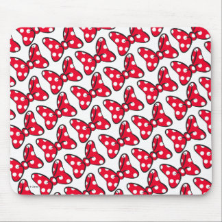 Trendy Minnie | Polka Dot Bow Pattern Mouse Pad