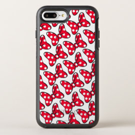 Trendy Minnie | Polka Dot Bow Pattern OtterBox Symmetry iPhone 8 Plus/7 Plus Case