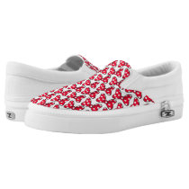 Trendy Minnie | Polka Dot Bow Pattern Slip-On Sneakers