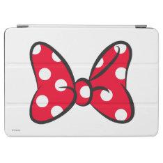 Trendy Minnie | Red Polka Dot Bow iPad Air Cover at Zazzle