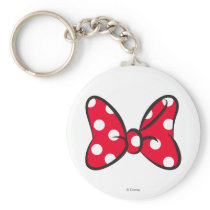 Trendy Minnie | Red Polka Dot Bow Keychain