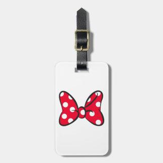 Trendy Minnie | Red Polka Dot Bow Luggage Tag