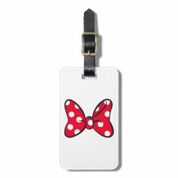 Disney Themed Trendy Minnie | Red Polka Dot Bow Luggage Tag