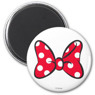 Trendy Minnie | Red Polka Dot Bow Magnet