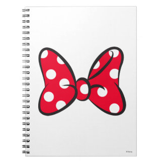Trendy Minnie | Red Polka Dot Bow Notebook