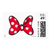 Trendy Minnie | Red Polka Dot Bow Postage