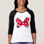Trendy Minnie | Red Polka Dot Bow T-shirt at Zazzle