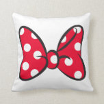 "Trendy Minnie | Red Polka Dot Bow Throw Pillow<br><div class=""desc"">Disney Fast Fashion- The famous polka dot bow Minnie Mouse wears.</div>"