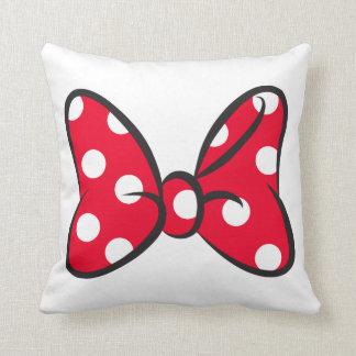 Trendy Minnie   Red Polka Dot Bow Throw Pillow